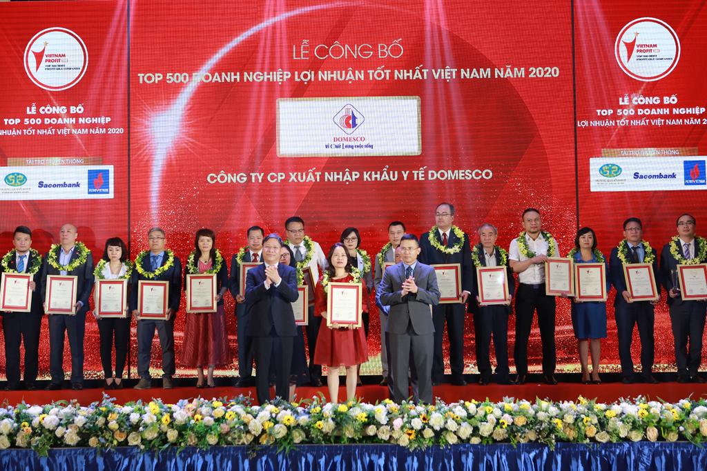 DOMESCO ĐẠT TOP 500 DOANH NGHIỆP LỢI NHUẬN TỐT NHẤT VIỆT NAM NĂM 2020