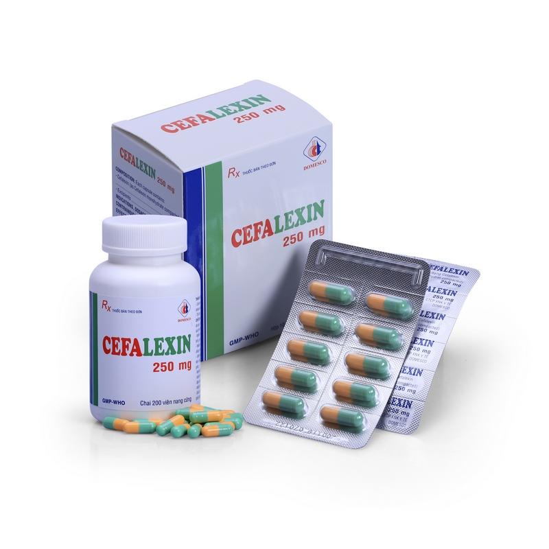 Cefalexin 250mg (xanh-vàng)