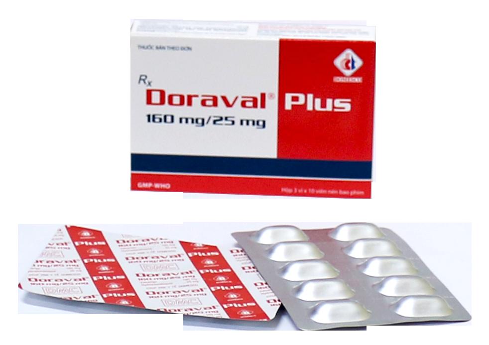 DORAVAL PLUS 160MG/ 25MG