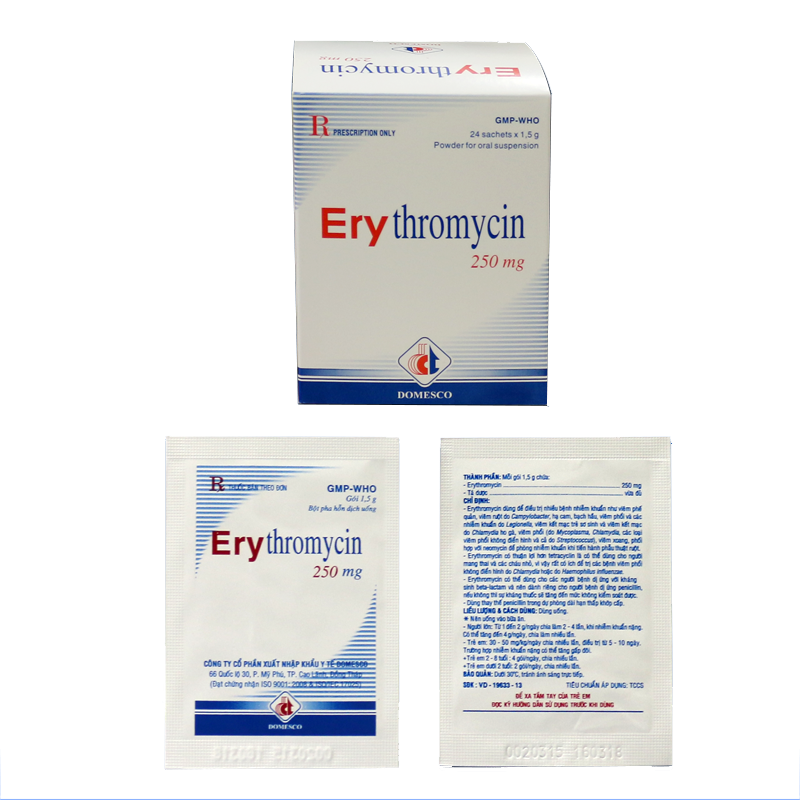 Erythromycin 250mg (GÓI)