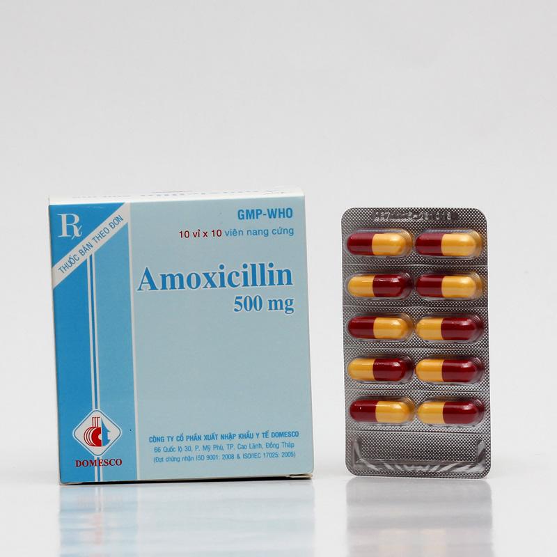 AMOXICILLIN 500mg (NÂU - VÀNG)